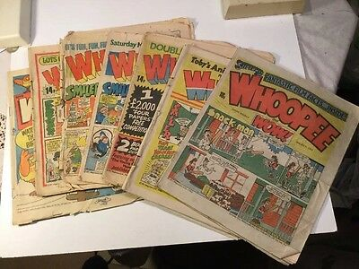 Whoope And Wow Comic - 7 Copies 1981-3