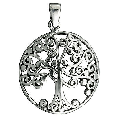 6,5g 925 Sterling Silver Round Tree of Life Celtic Pendant Stamped Beldiamo