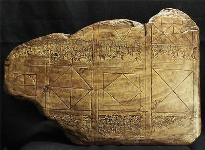BABYLONIAN CUNEIFORM GEOMETRY TABLET 1750 BC historical replica