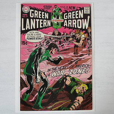 Green Lantern 77 Comic book Extremely Minimal color break. Flat VF+ 8.5 Awesome!