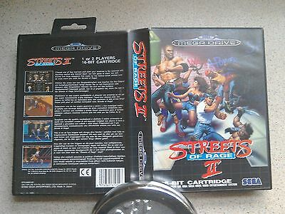 Streets of Rage 2  BOX ONLY, NO GAME - For Sega Mega Drive Game (PAL)