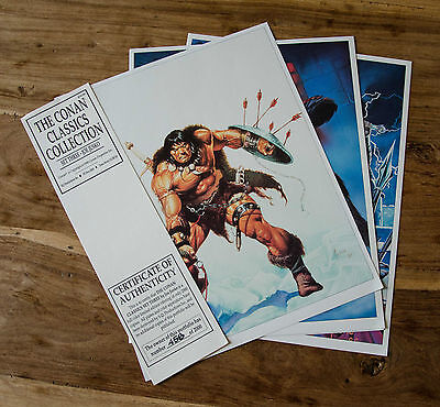 THE CONAN CLASSICS COLLECTION SET SIX • John Buscema, Joe Jusko. 6 Prints
