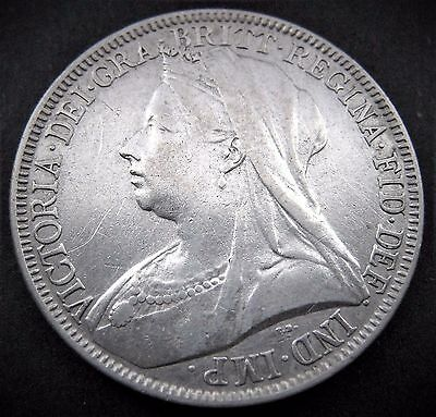 1893 Great Britain UK British Victoria Florin Silver ?VF?
