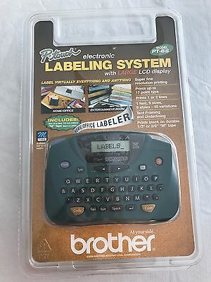 Brother P-touch Electronic Labeling System Model PT-65 New and Sealed