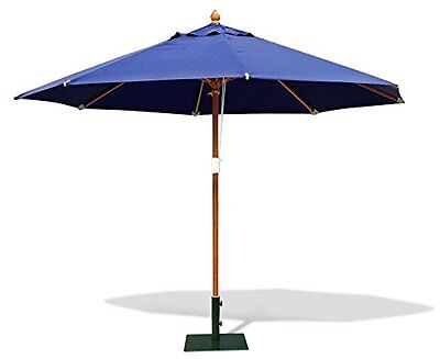 Octagonal Outdoor Parasol 3.5m- Garden Umbrella Shade - FSC hardwood - 5 colours