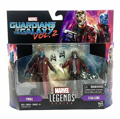 Marvel Legends Action Figures 2-Packs Star Lord And Yondu Personaggi Hasbro