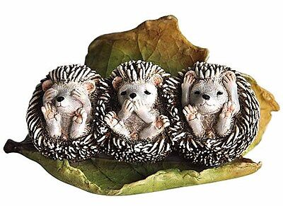 Three No Evil Baby Hedgehogs (4213) Speak, Hear, See No Evil NEW
