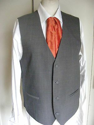 Wilvorst grey vest waistcoat to match morning coat tailcoat select size W/C ONLY
