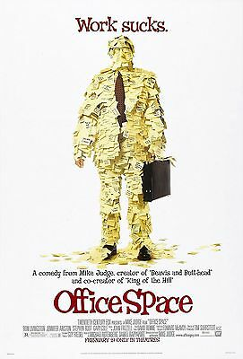 Office Space (1999) Original Version A Movie Poster  -  Rolled  -  Double-Sided