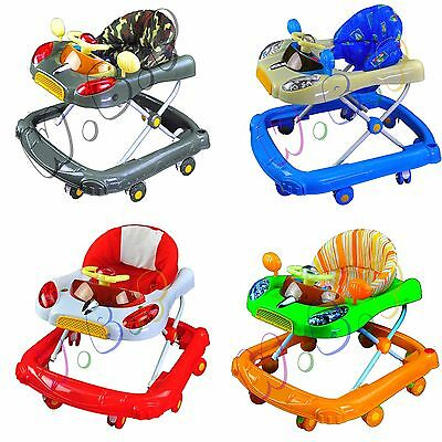 Baby Walker Car First Steps Walker Activity Musical Toy 3 adjust height