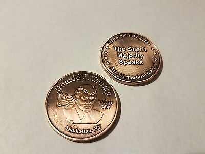 Bronze Tone 45Th President Donald Trump Commemorative Coin Round 40Mm X 3Mm Case