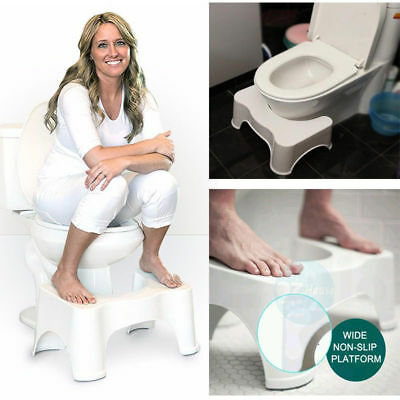 Toilet Squatty Stool Natural Potty Squat Aid For Constipation Piles Relief 8.5""