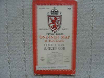 1947 OS Map - Loch Etive and Glen Coe