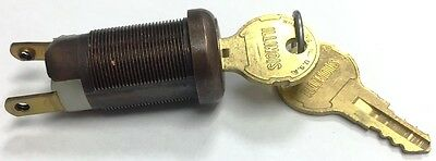 ANTIQUE BRONZE Screw Terminal On-off Key Switch Lock