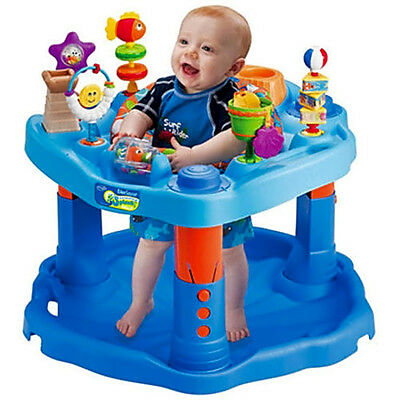 Baby Saucer Activity Center Mega Splash Toys Fun Walker Play Toy Bounce Infant