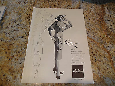 Original Vintage 1951 Adrian Pocket Suit Exaggerated Sleeves Fashion Ad