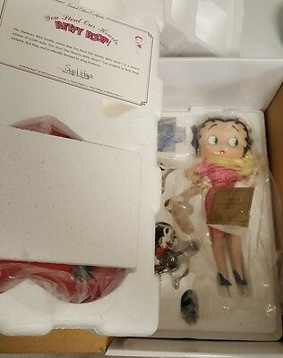 "11"" Betty Boop 75th Anniv. Porcelain Figurine ""You Steal Our Hearts"" -MINT -NIB"