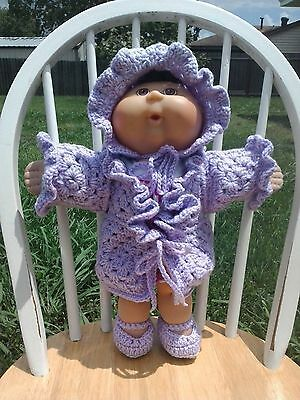 Crochet Cabbage Patch Doll Clothes~~Jacket & Bonnet~Handmade