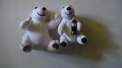 Plush Doll Cola Coca Bear Stuffed Polar Animal Coke Toy on has Bottle in hand