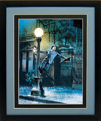 LARGE Gene Kelly Singing In The Rain Lamp Post Movie Poster Framed 22x16
