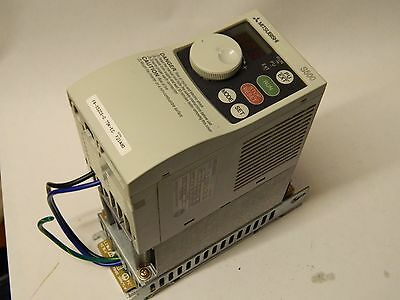 Mitsubishi FR-S520S-0.75-EC 1PH 220-240vac 0.75KW 4.1A Inverter+Filter 0.5-120Hz