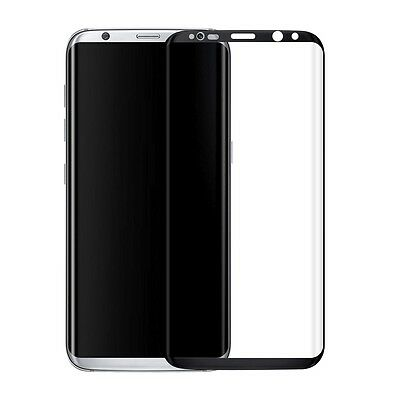 Tempered Glass Screen 9H Protector SAMSUNG GALAXY S8 G9500 Black 3D Curved