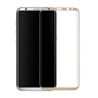 Tempered Glass Screen 9H Protector  SAMSUNG GALAXY S8  G9500 Gold 3D Curved
