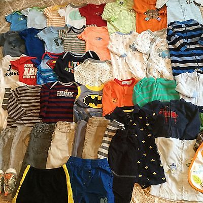 Excellent Lot Of Baby Boy Clothes 0-3 3-6 Months 47 Pieces