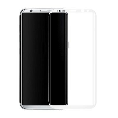 Tempered Glass Screen 9H Protector SAMSUNG GALAXY S8 G9500 White 3D Curved