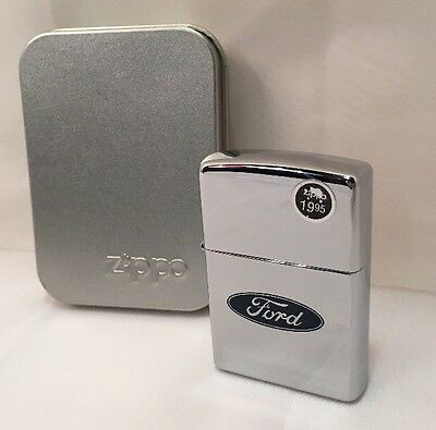 Zippo Lighter Sealed Ford Oval Logo 200F .225 C 1997