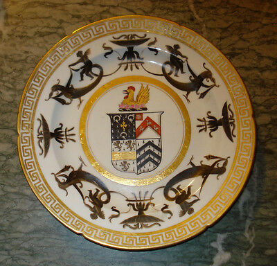 Rare Antique English Coalport Armorial Plate Circa 1815 / 1820