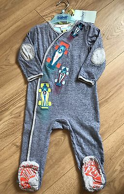 Ted Baker Boys Blue baby grow, romper 9-12 Months