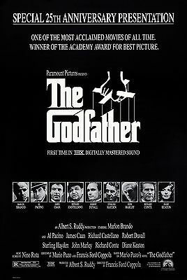 The Godfather (1972) Original Movie Poster  -  25Th Anniversary Mylar  -  Rolled