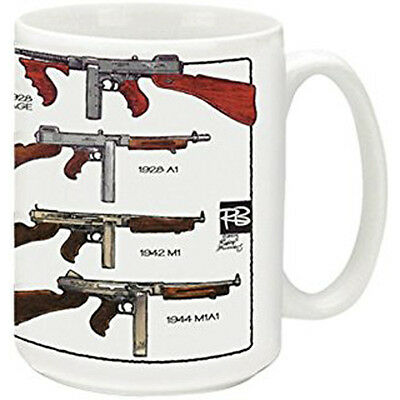 Cuppa 15 oz. Coffee Mug - Thompson Submachine Gun Imprinted - CC59046