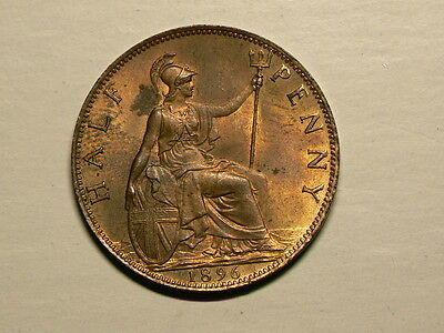 Great Britain 1896 Bronze Half Penny  Victoria Uncirculated KM# 789  #G5515