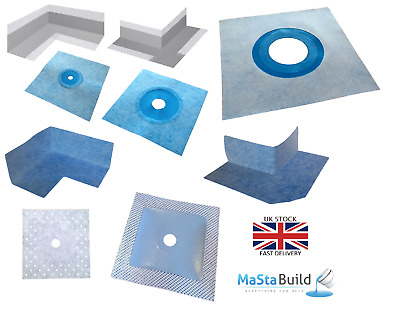 Wet Room System Waterproof Tanking tape 90° corner joint, collars, inner, outer
