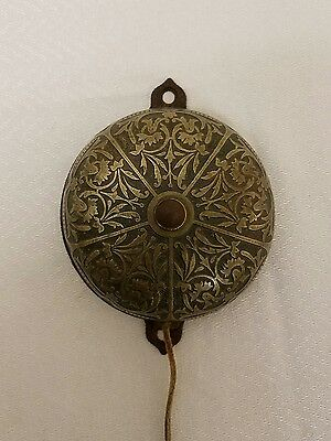 Antique Brass Victorian Door Bell Pull Style. Patent Feb. 25th 1879