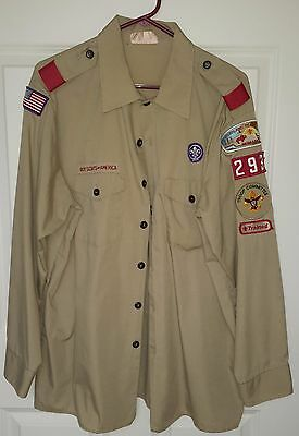 Men's Xl Boy Scout Shirt - Long Sleeve - And Hat - Excellent Condition