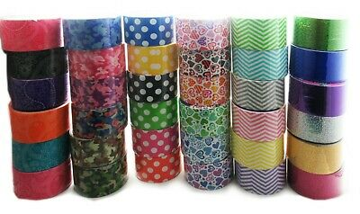 """36 roll variety pack assorted printed duct tape 1.88""""x 5yrd Fun for children art"""