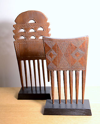 Ancien peigne africain AKAN BAOULE 1960 - african comb - West africa no Congo