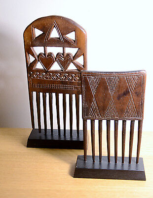 Ancien peigne africain BAOULE 1960 - african comb - West africa no Congo