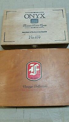 Lot of 2 Cigar boxes from Dominican Republic. Empty