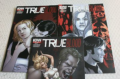TRUE BLOOD : SET of COLOR GRAPHIC NOVELS Vols 2,3,4 by BALL, TISCHMAN