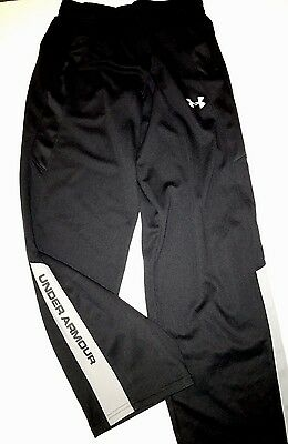 Under Armour Pants Boys Youth  Black Gray Sweats Lounge  XL Excellent