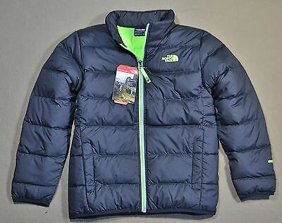Nwt Boys The North Face Andes Black/neon Green Full Zip Down Jacket Coat Sz Xs-L