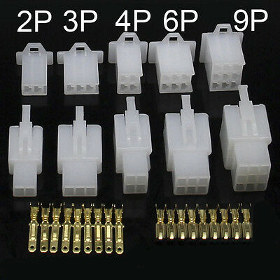 2.8mm 2/3/4/6/9 Way Pin Mini Plug Connector and Socket Kits Motorcycle Auto Car