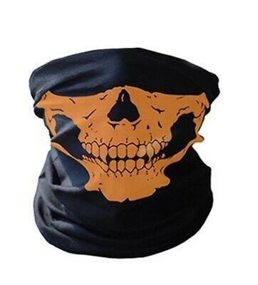 2X Skull Mask Bandana Winter Bike Motorcycle Scarf Neck Warmer Skeleton Snow Ski