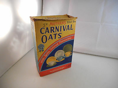Vintage Mother's Oats Cereal Box Featuring Gaily Colored Chinaware-Quaker Oats