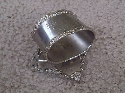 """Vintage -- Napkin Ring Holder -- """"best Wishes"""" -- Silver Plated -- """"collectible"""""""