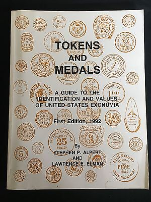 Tokens and Medals Exonumia Guide Book Alpert Elman First Edition 1992